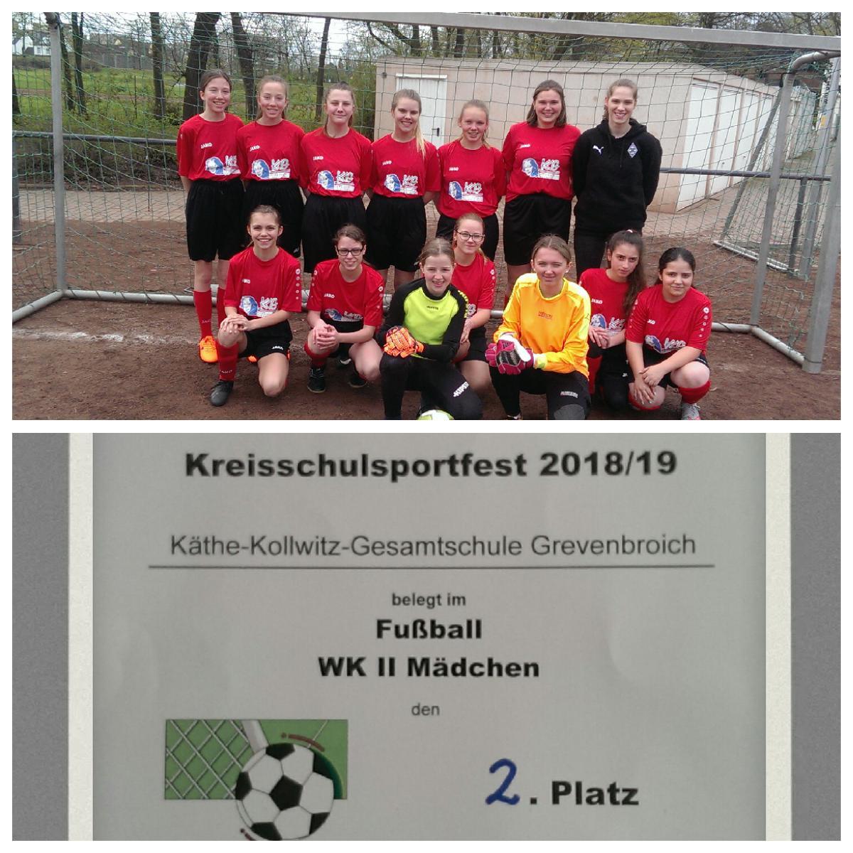 KKG – Mädels nach Finaleinzug Vizekreismeister im Fußball