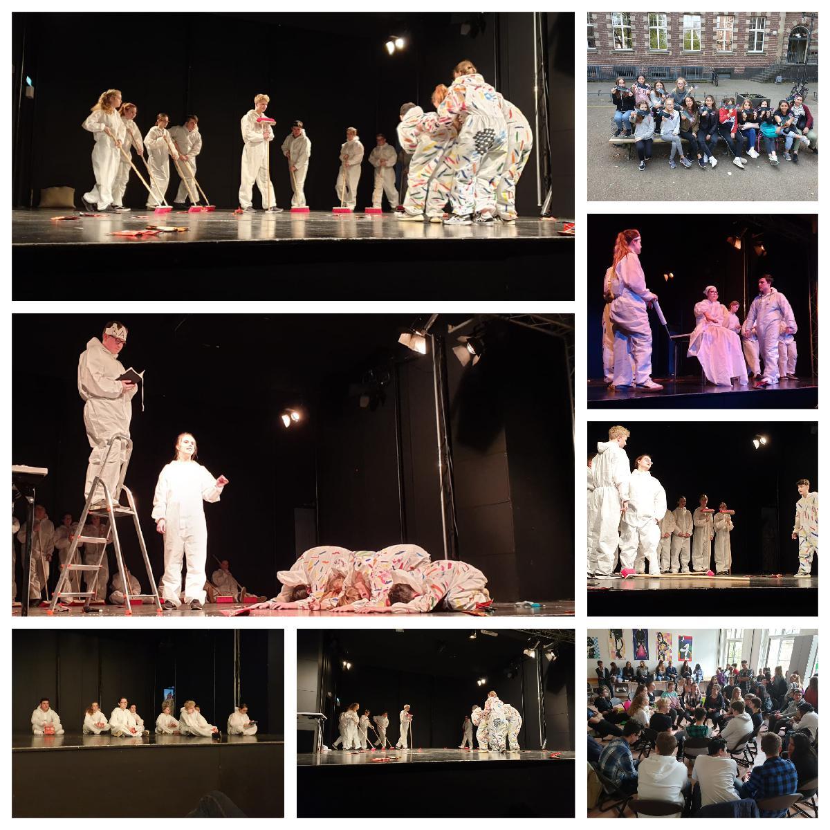 KKG-Kurs Szenisches Gestalten beim Theaterfestival Maskerade in Düsseldorf
