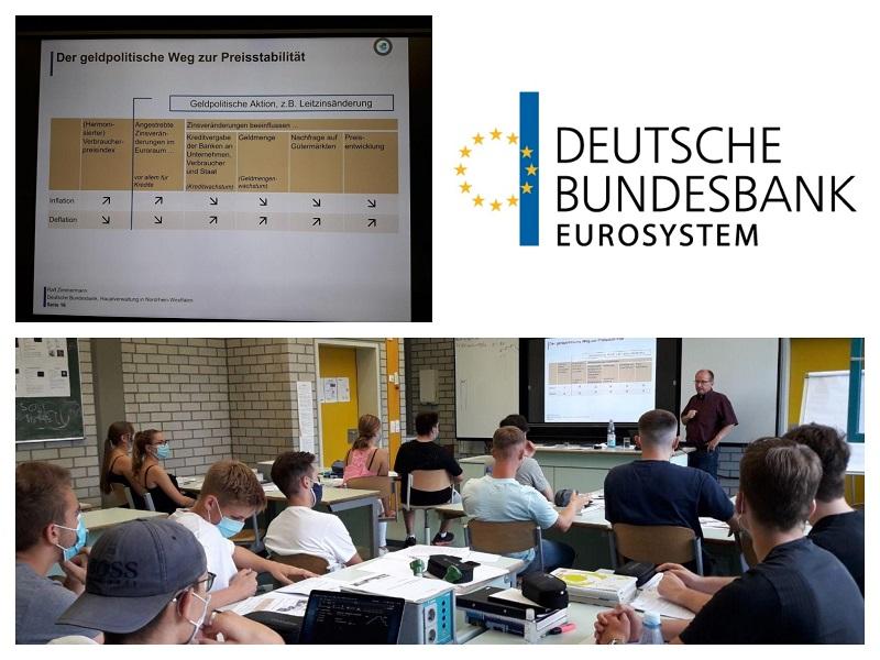 """""""Geldpolitik im Euroraum"""" – Workshop der Deutschen Bundesbank an der Käthe-Kollwitz-Gesamtschule"""